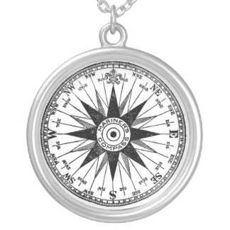 Vintage Mariner's Compass necklace