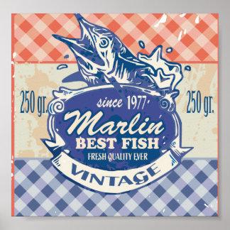 Vintage Marlin Best Fish Poster