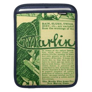 Vintage Marlin Firearms Green Gun Ad iPad Sleeve