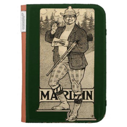 Vintage Marlin Firearms Gun Ad Amazon Kindle Cover