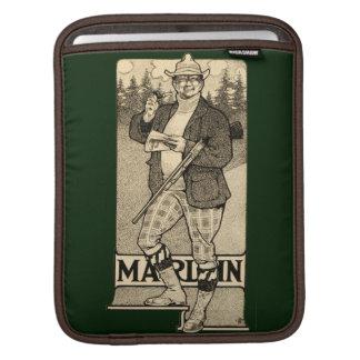 Vintage Marlin Firearms Gun Ad Apple iPad Sleeve