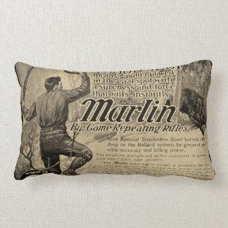 Vintage Marlin Firearms Gun Ad Home Decor Pillow