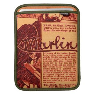 Vintage Marlin Firearms Orange Gun Ad iPad Sleeve