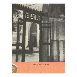 Vintage  Marrakesh, Maroc, Tomb of Ben Slimane Postcard