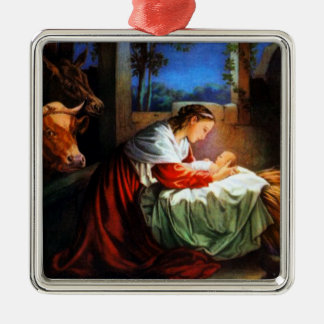 Vintage Mary and baby Jesus Ornament