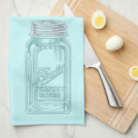 Vintage Mason Jar (Customize your Kitchen Colours) Kitchen Towels