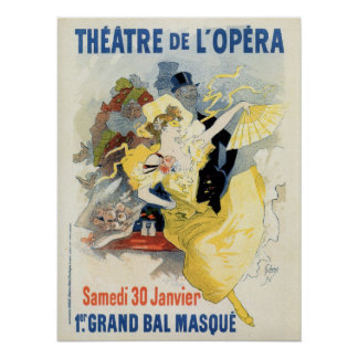 vintage masquerade ball in the opera theatre ad poster