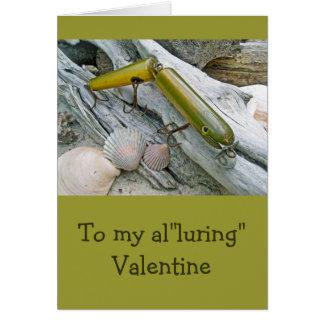 Vintage Masterlure Jointed Eel Valentine Card