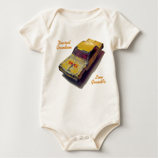 Vintage MatchBox Yellow Cab Baby Bodysuit