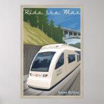 Vintage Max Light Rail Travel Poster