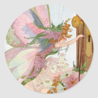 Vintage May Day Faerie Sticker