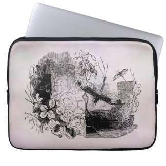Vintage May Flies Parchment Personalized Template Laptop Sleeve