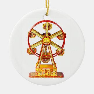 Vintage Mechanical Ferris Wheel Ceramic Ornament