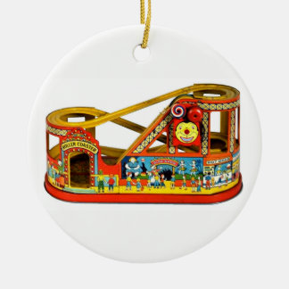 Vintage Mechanical Toy Ceramic Ornament