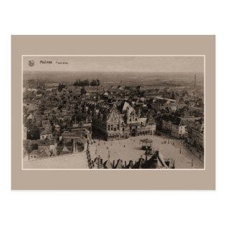 Vintage Mechelen Panorama Postcard