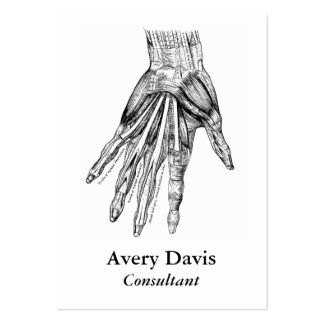 Vintage Medical Drawing Muscles of the Hand Pack Of Chubby Business Cards