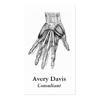 Vintage Medical Drawing Muscles of the Hand Pack Of Standard Business Cards