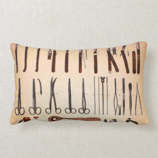 Vintage Medical Instruments Throw Pillow