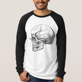Vintage Medical Skull Diagram - T-Shirt
