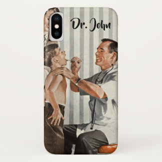 Vintage Medicine, Doctor Seeing a Boy Patient iPhone X Case