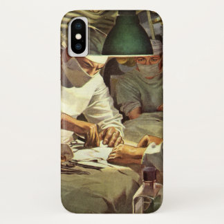 Vintage Medicine, Doctors Performing Surgery in ER Case-Mate iPhone Case