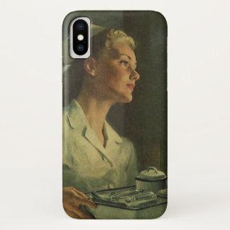 Vintage Medicine, Nurse with Medical Tools iPhone X Case
