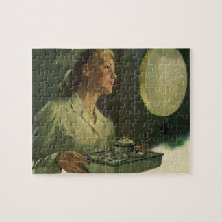 Vintage Medicine, Nurse with Medical Tools Jigsaw Puzzle