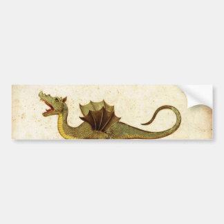 Vintage Medieval Dragon Design Bumper Sticker