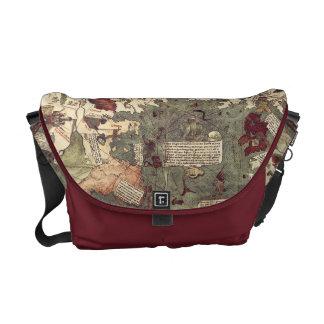 Vintage Medieval World Map messenger bag