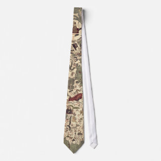 Vintage Medieval World Map tie