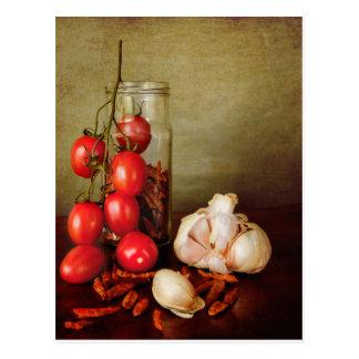 Vintage Mediterranean flavors Postcard