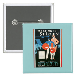 Vintage Meet Me In St.Louis 2 Inch Square Button