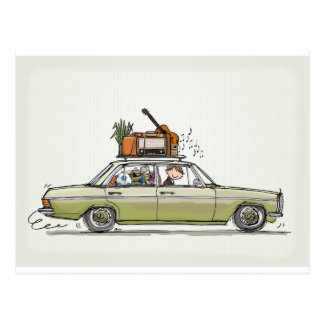 Vintage Mercedes Benz Postcard