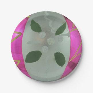 Vintage Mercury Glass Christmas Ball Mistletoe Paper Plate