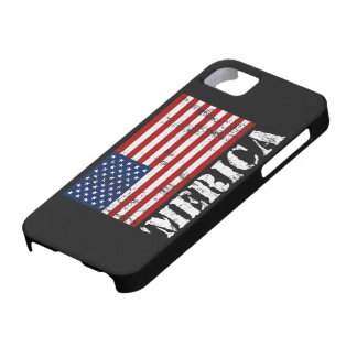 Vintage 'MERICA US Flag iPhone 5 Case