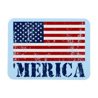 Vintage 'MERICA US Flag Patriotic Premium Magnet Flexible Magnet
