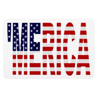 Vintage 'MERICA US Flag Patriotic Premium Magnet Vinyl Magnet