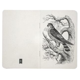 Vintage Merlin Falcon Bird - Birds Template Blank Journal