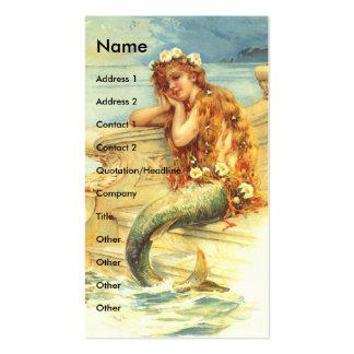 Vintage Mermaid Business Card