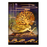 Vintage Mermaid Business Card Template