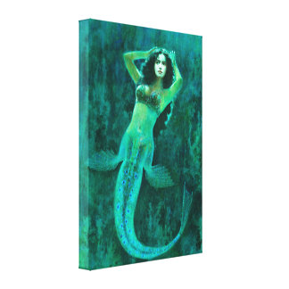 Vintage Mermaid Canvas Print