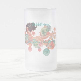 VINTAGE MERMAID FROSTED GLASS MUG