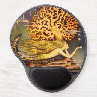 Vintage Mermaid Gel Mouse Pad
