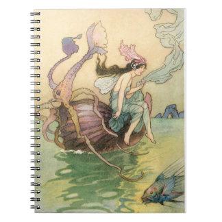Vintage Mermaid Spiral Notebook