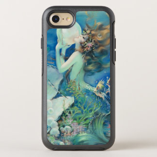 Vintage Mermaid w Pearl Nautical Ocean Nautical OtterBox Symmetry iPhone 8/7 Case