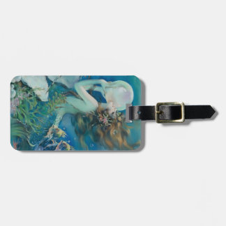 Vintage Mermaid with Pearl Luggage Tag