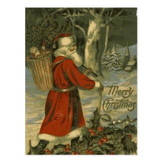 Vintage Merry Christmas Card St Nick