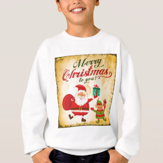 Vintage Merry Christmas Daning Santa and Elf Sweatshirt