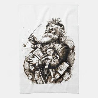 Vintage Merry Old Santa Claus Towel
