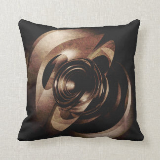 Vintage Metal Abstract Throw Pillow